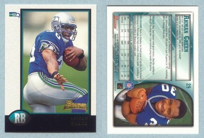 1998 Bowman # 29 AHMAN GREEN RC Packers Seahawks Rookie -- MINT