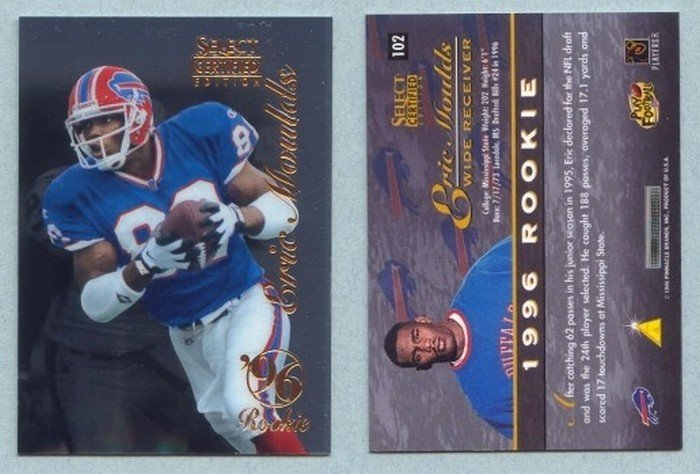 1996 Select Certified # 102 ERIC MOULDS RC Bills Rookie -- MINT
