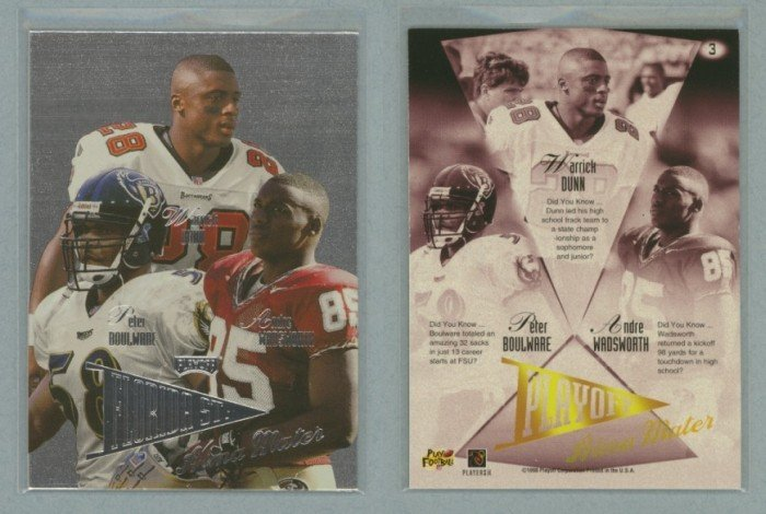 1998 Playoff Prestige Alma Maters # 3 DUNN, WADSWORTH, BOULWARE -- MINT