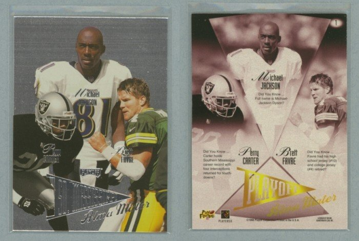 1998 Playoff Prestige Alma Maters # 1 FAVRE, JACKSON, CARTER -- MINT