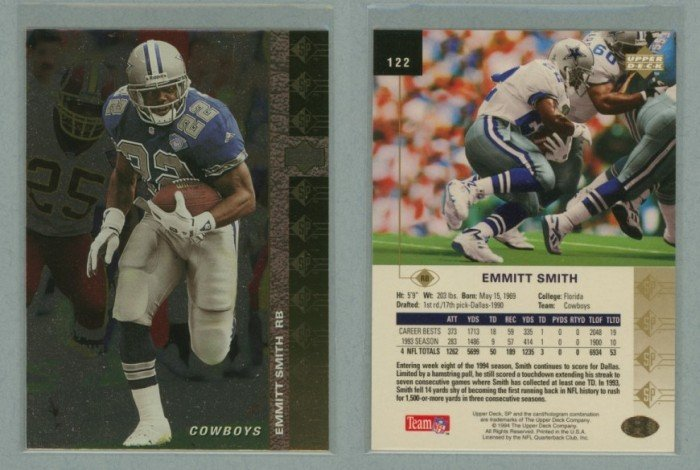 1994 SP # 122 EMMITT SMITH -- MINT