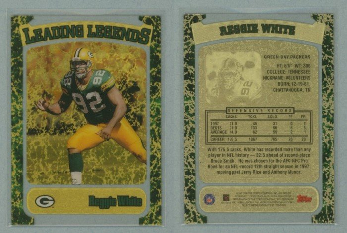 1998 Stadium Club Leading Legends # 9 REGGIE WHITE -- MINT