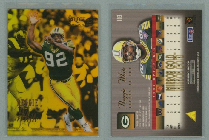 1995 Select Certified Mirror Gold # 103 REGGIE WHITE -- MINT