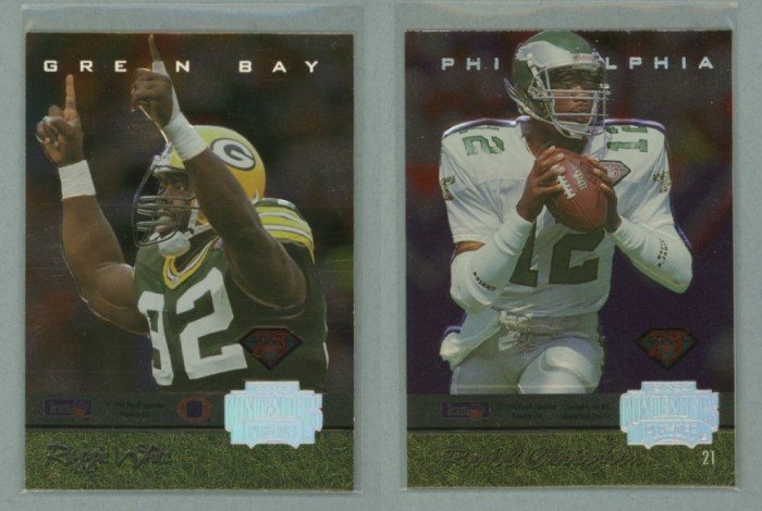 1994 Playoff Contenders Back-to-Back # 21 REGGIE WHITE and  RANDALL CUNNINGHAM -- MINT
