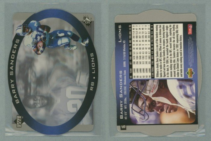 1996 SPx # 16 BARRY SANDERS -- MINT