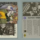 1998 Upper Deck Super Powers Die Cut Silver # S29 REGGIE WHITE #d 0175 of 2000 -- MINT