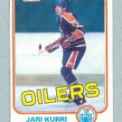1981-82 Topps # 18 -- Jari Kurri Rookie Card RC