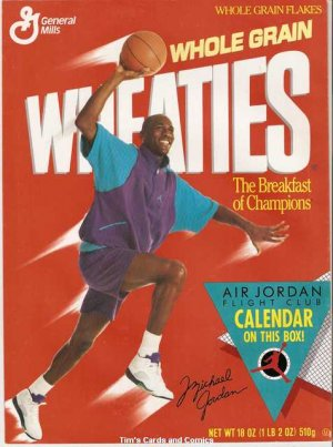 1991 Air Jordan Flight Club Calendar Wheaties GD/VG
