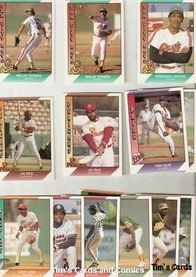 Lot of 22 1991 Pacific Senior League Baseball Cards