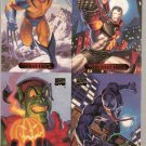 Marvel Masterpieces 1994 4 Card Sheet Wolverine Venom