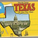Howdy from Texas the Lone Star State Souvenir Folder