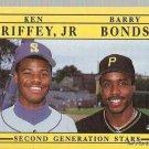 1991 Fleer Baseball Card 710 Ken Griffey Jr Barry Bonds