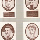 Lot of 9 Sport Hobbyist Baseball Cards Ruth Gehrig Cobb