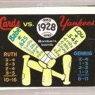 1970 Fleer World Series #25 1928 Yankees/Cardinals FR
