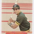 1987 Fleer Headliners Baseball Card #2 Jose Canseco