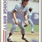 1982 Topps Baseball Card #201 George Brett In Action NM