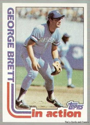 1982 Topps Baseball Card #201 George Brett In Action NM