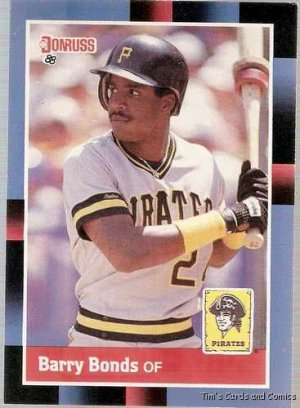 1988 Donruss Baseball Card  #326 Barry Bonds NM