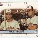 1988 Fleer Glossy #640 The O's Brothers Cal Ripken Bill