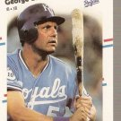 1988 Fleer Glossy Baseball Card #254 George Brett