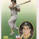 1989 Fleer All-Stars Baseball Card #2 Jose Canseco