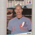 1989 Fleer Baseball Card #381 Randy Johnson Rookie