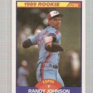 1989 Score Baseball Card #645 Randy Johnson Rookie