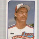 1989 Topps Baseball Card #647 Randy Johnson Rookie
