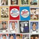 Lot of 1986-88 Topps Baseball Minis & Panini Stickers