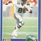1989 Score Football Card #72 Chris Carter Rookie Card