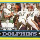 1986 Topps Football Card ##44 Dolphins Team EX-MT