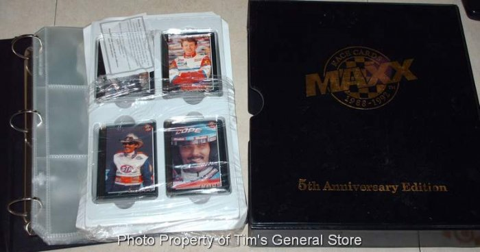 1992 Maxx 5th Anniversary Racing Set with Album & Pages