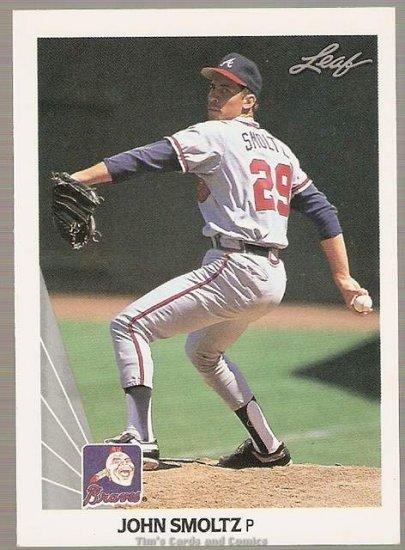 1990 Leaf Baseball Card #59 John Smoltz NM or better