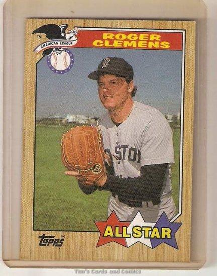 1987 Topps Baseball Card #614 Roger Clemens All Star