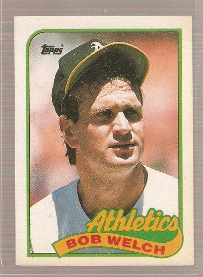 1989 Topps Baseball Card #605 Bob Welch Error Card