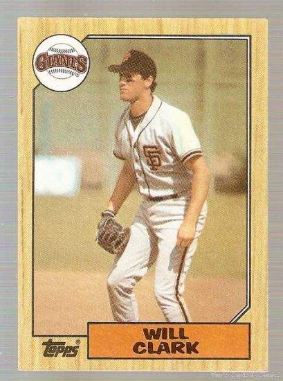 1987 Topps Baseball Card #420 Will Clark Rookie