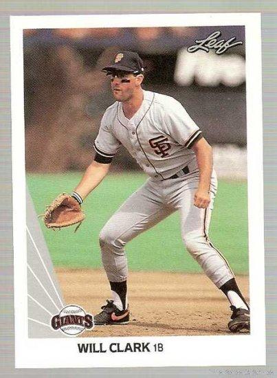 1990 Leaf Baseball Card #172 Will Clark