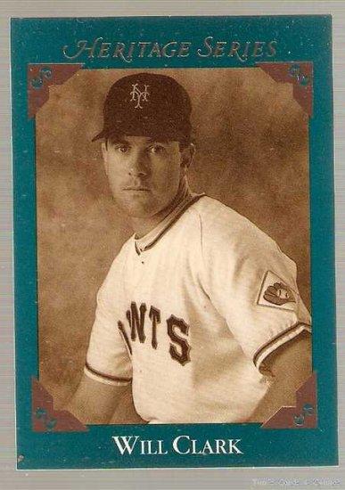 1992 Leaf Studio Baseball Card #BC8 Will Clark