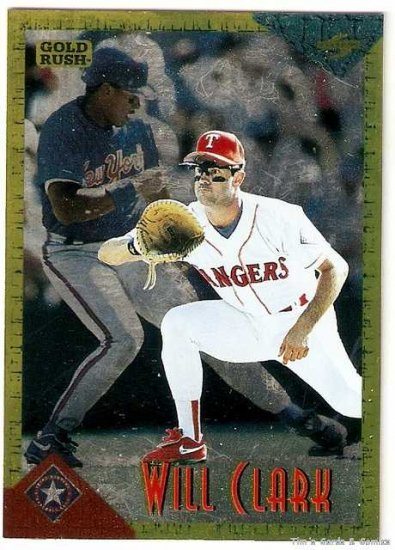 1994 Score Rookie/Traded Gold Rush Baseball Card #RT1 Will Clark