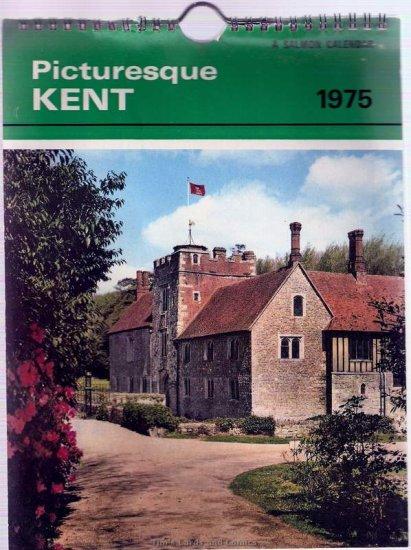 """Salmon's 1975 Picturesque Kent 9x6"""" Wirebound Calendar"""