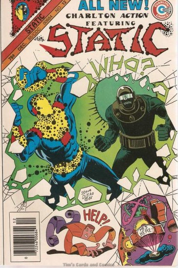 Charlton Action featuring Static #12 Comics 1985 FN