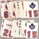 Lot of 50 1987-89 Topps Hockey Sticker Inserts Logos