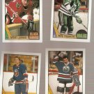 Lot of 4 1987-88 Topps Hockey Cards