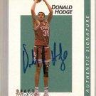 1991 Courtside Basketball Autographs #26 Donald Hodge