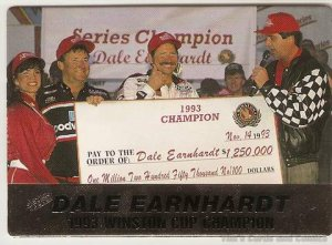 1994 Action Packed Racing Card #8 Dale Earnhardt WC Champ NM-MT