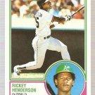 1983 Topps Baseball Card #180 Rickey Henderson NM-MT