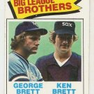 1977 Topps Baseball Card #631 Brothers George and Ken Brett