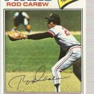 1977 Topps Baseball Card #120 Rod Carew EX