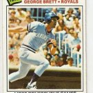 1977 Topps Baseball Card #231 George Brett Record Breaker VG