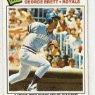 1977 Topps Baseball Card #231 George Brett Record Breaker VG